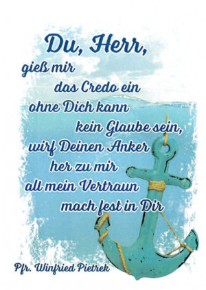 Postkarte Du Herr